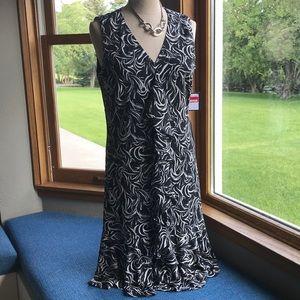 Just Taylor lined black & cream dress.  10